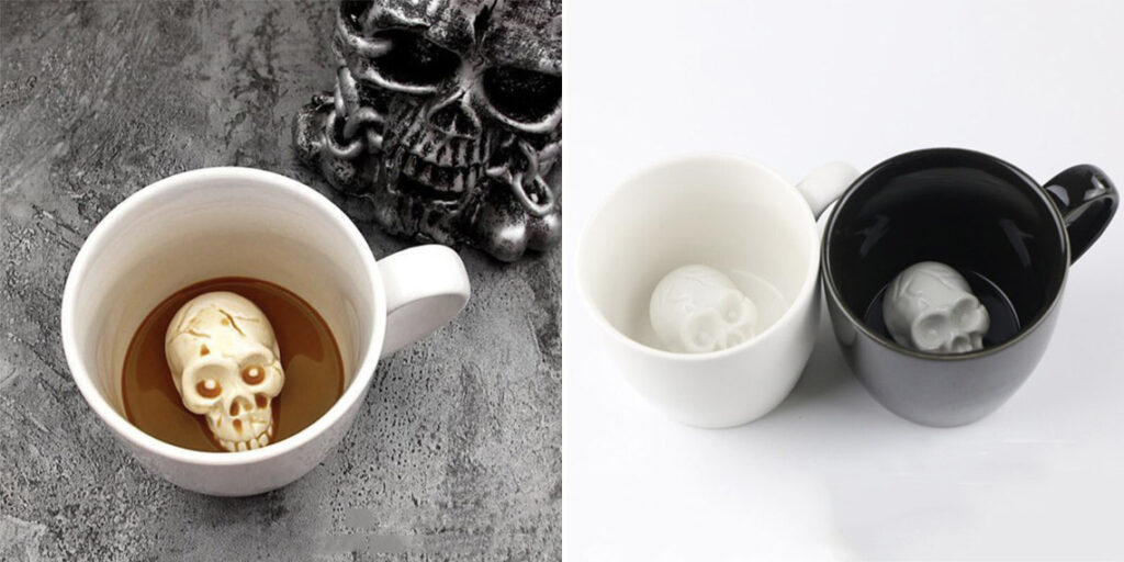 Очень странная чашка с черепом