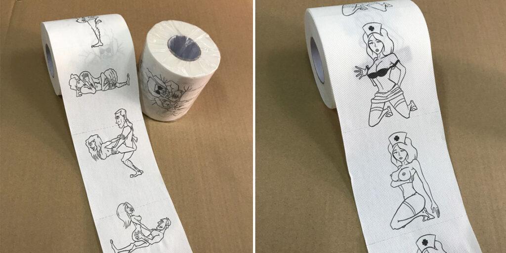 Туалетная бумага с эротическими рисунками