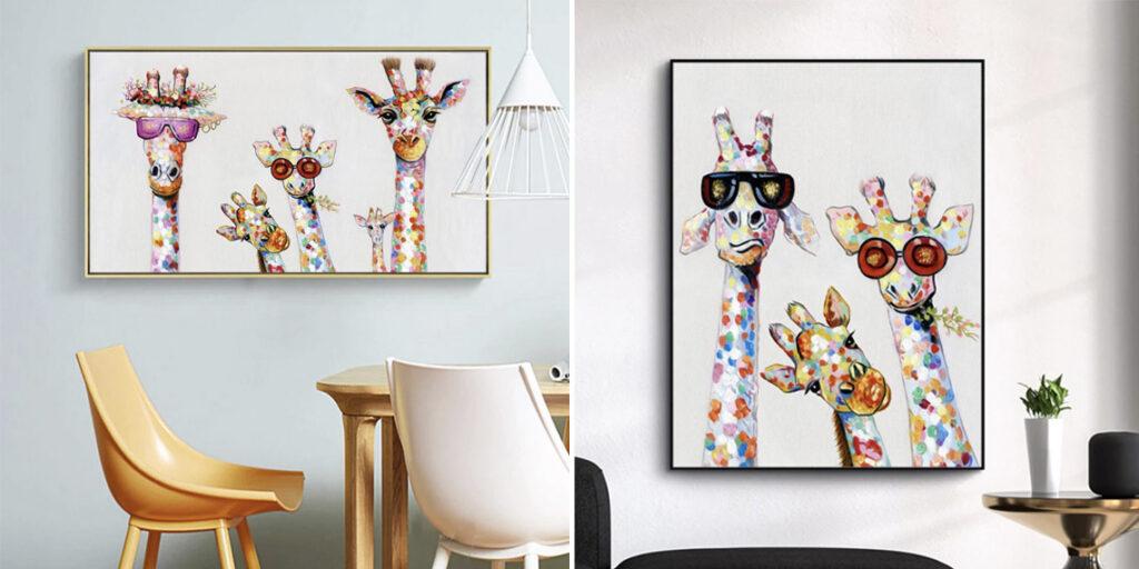 Картины с жирафами распродажа