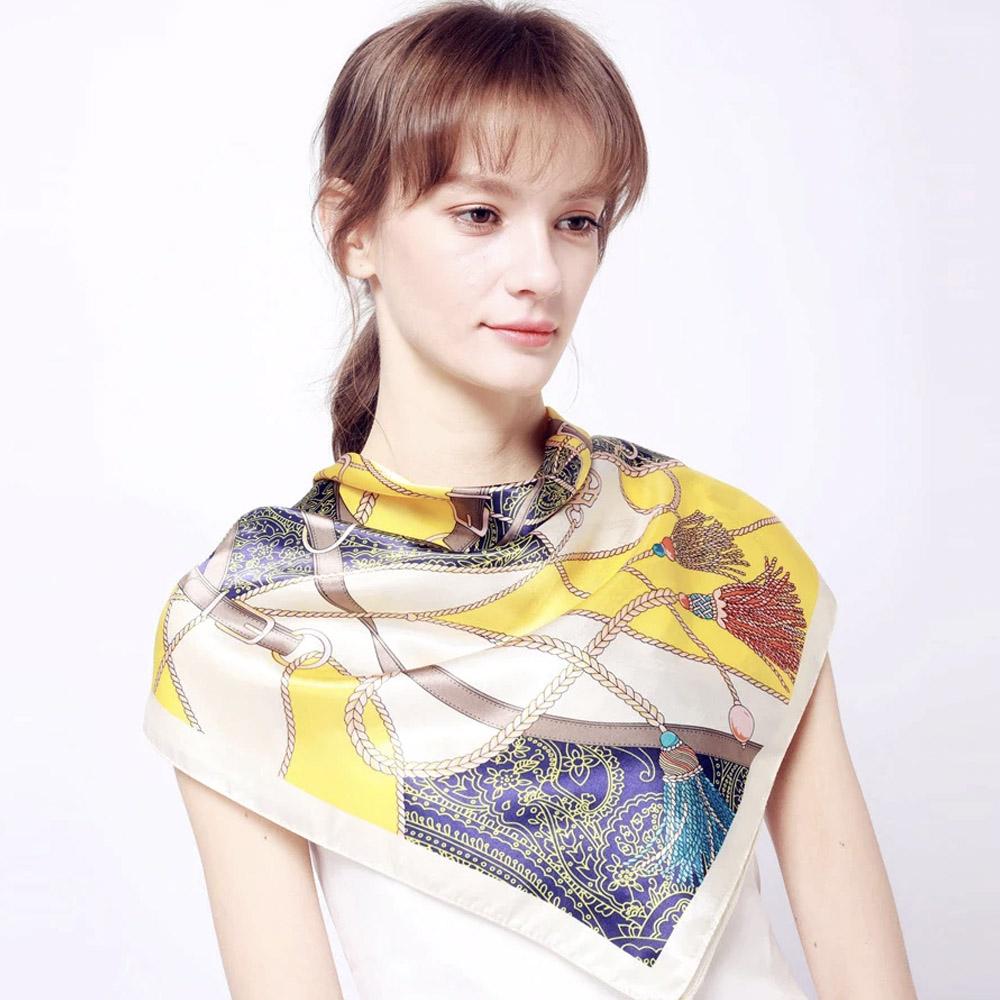Женский платок шелковый