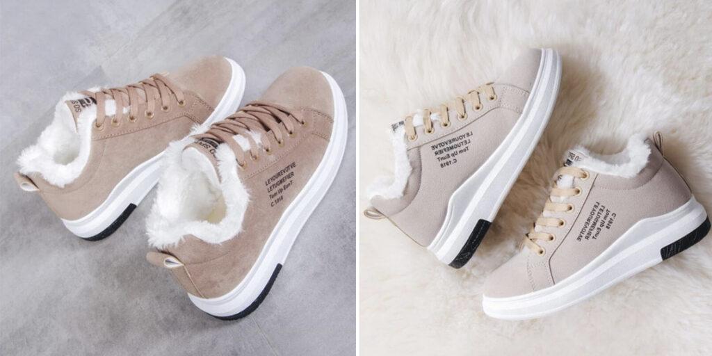 2 женские зимние кроссовки