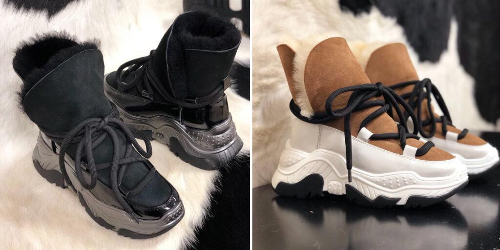 4 женские зимние кроссовки
