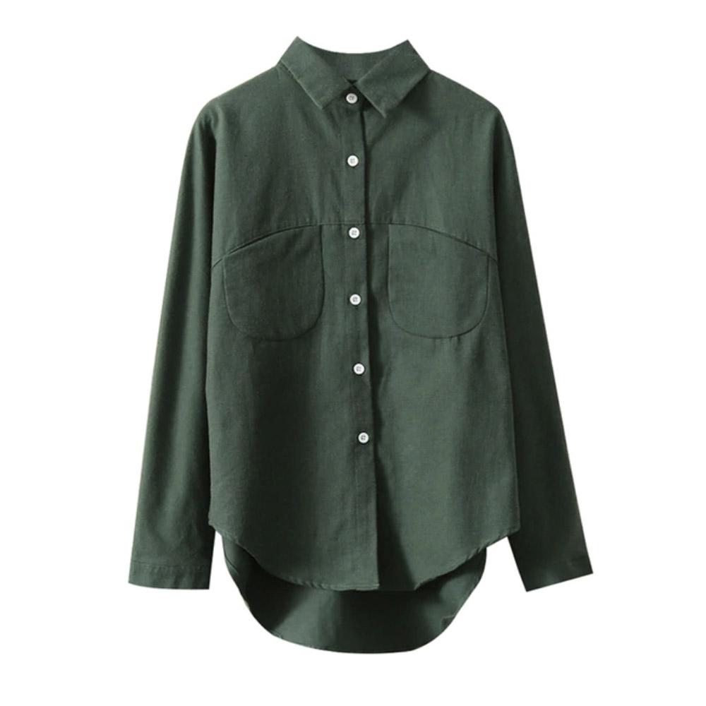 Блузка женская зеленая