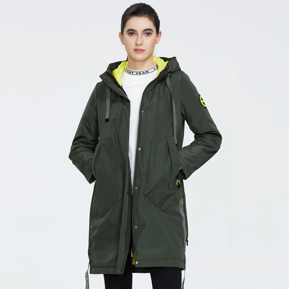 Женская куртка Айс Бир зеленая