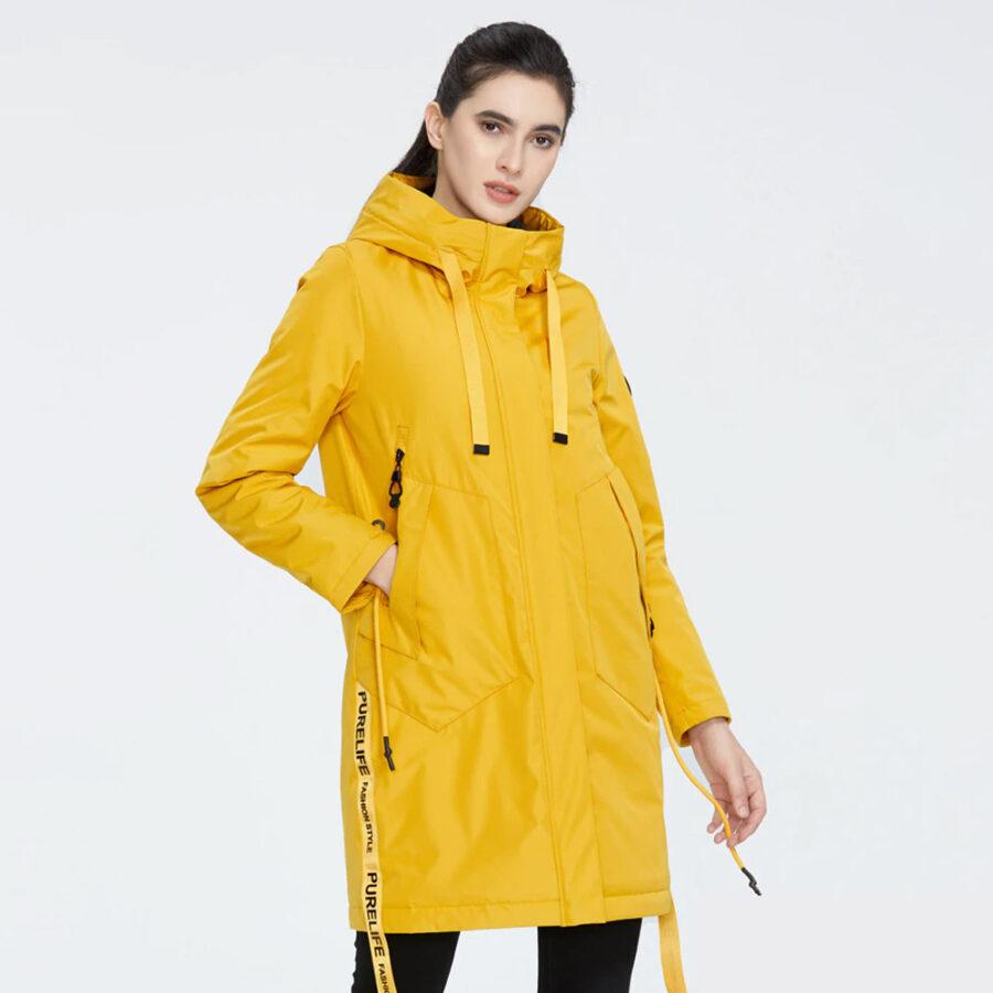 Женская куртка Айс Бир желтая