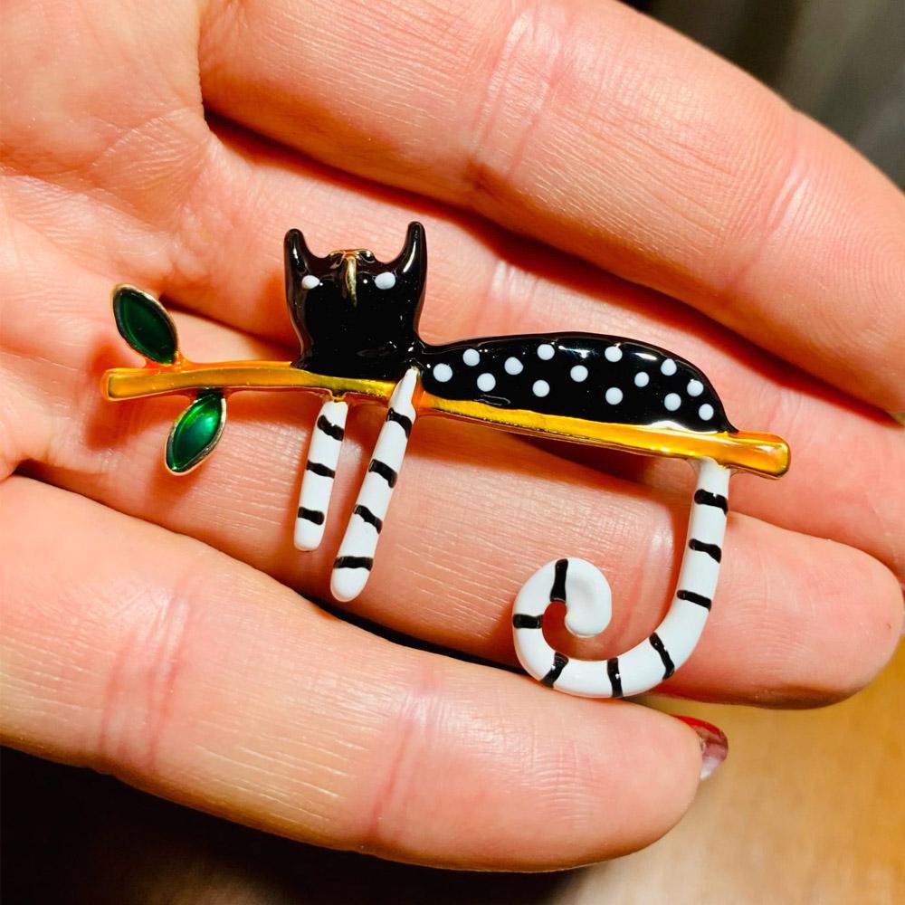Брошка-кошка Алиэкспресс