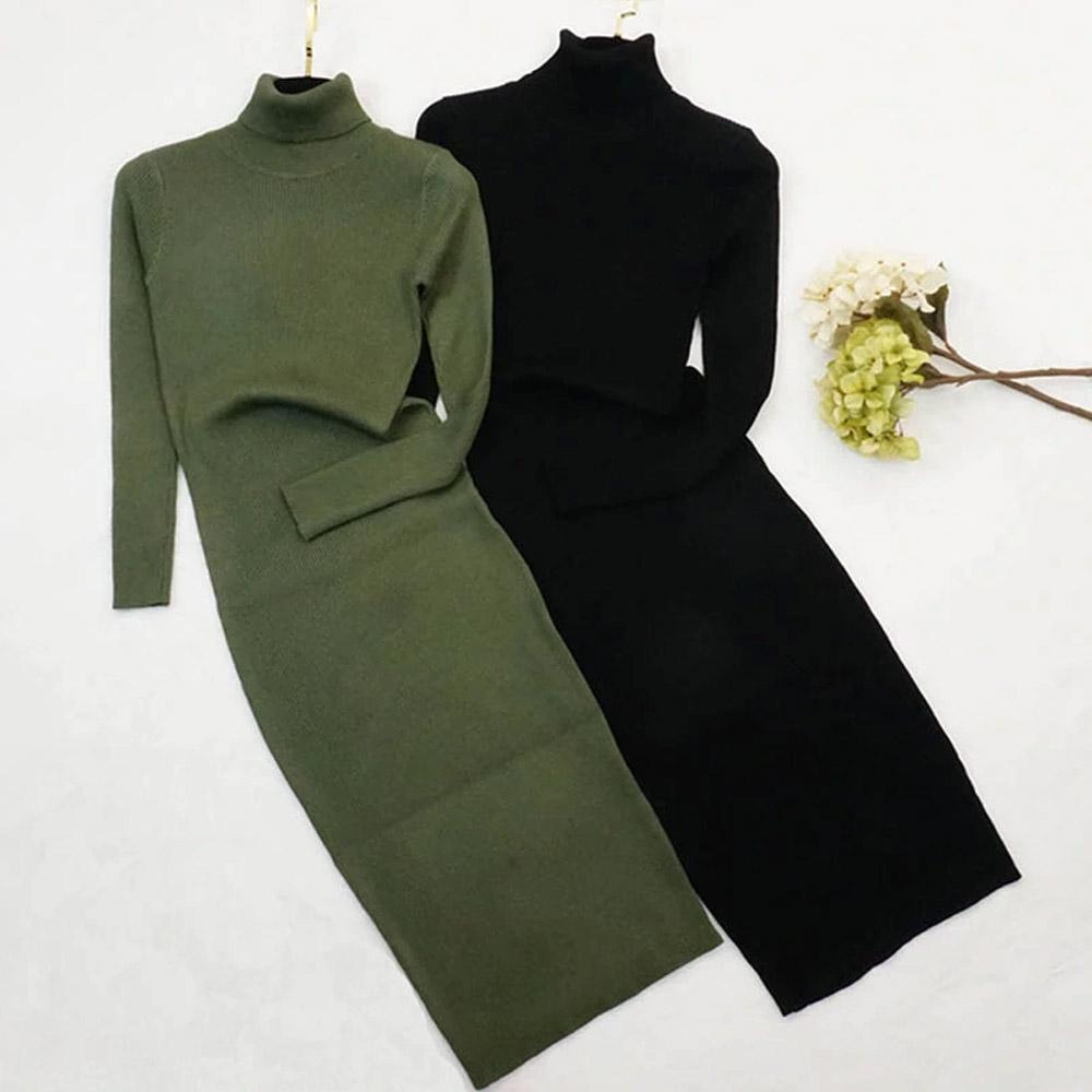 Платье с воротником женское