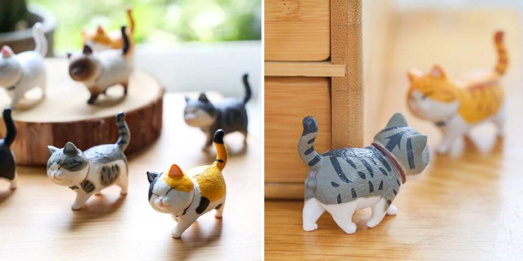 Маленькие статуэтки-котики