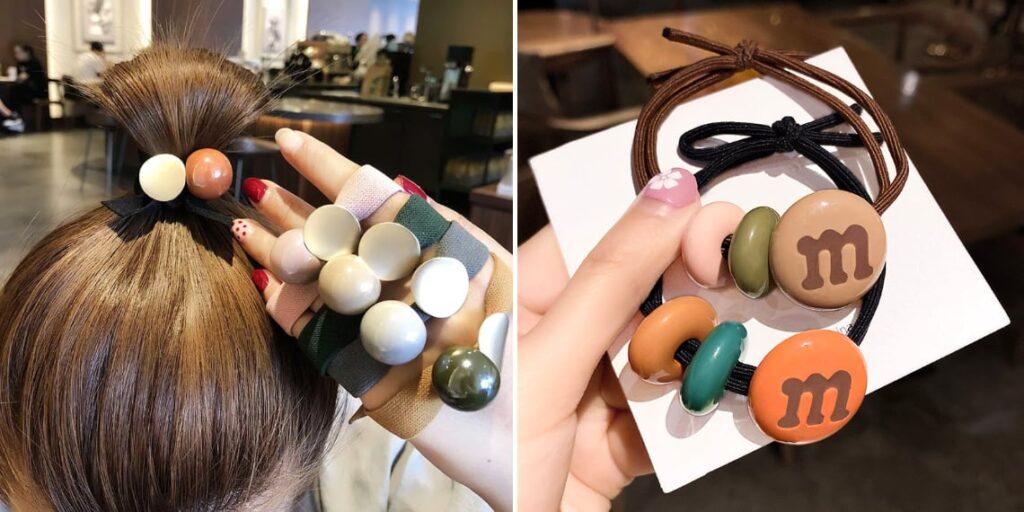 Резинки для волос в корейском стиле