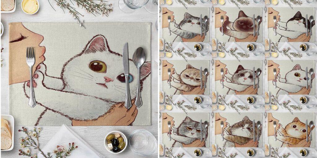 Кухонная салфетка с котами