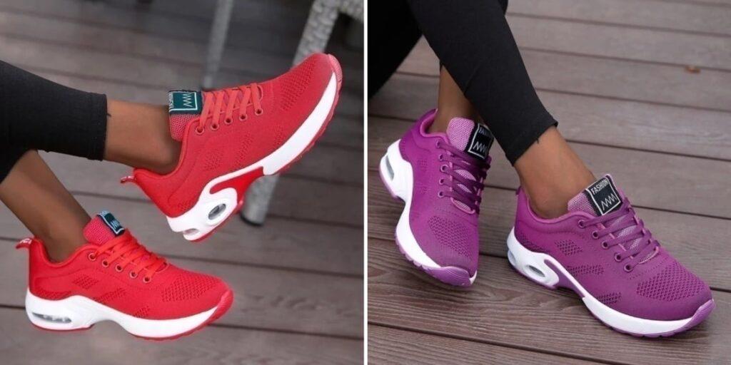 Цветные женские кроссовки