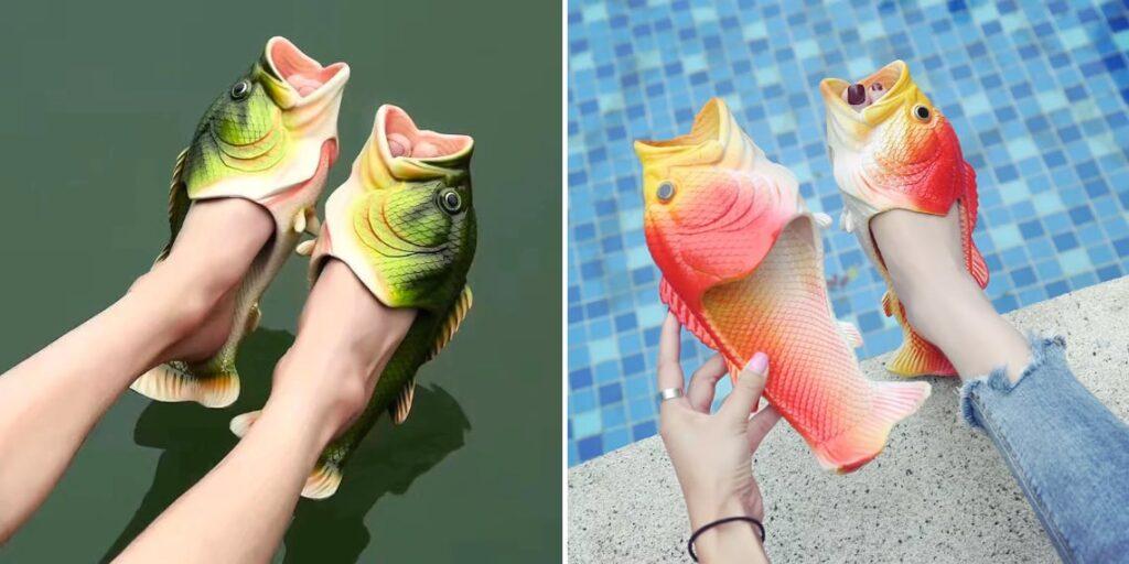 Тапочки в виде рыбы