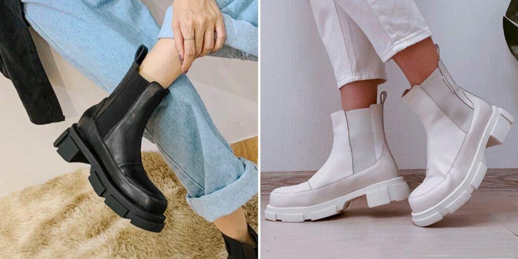 Женские ботинки на большой платформе
