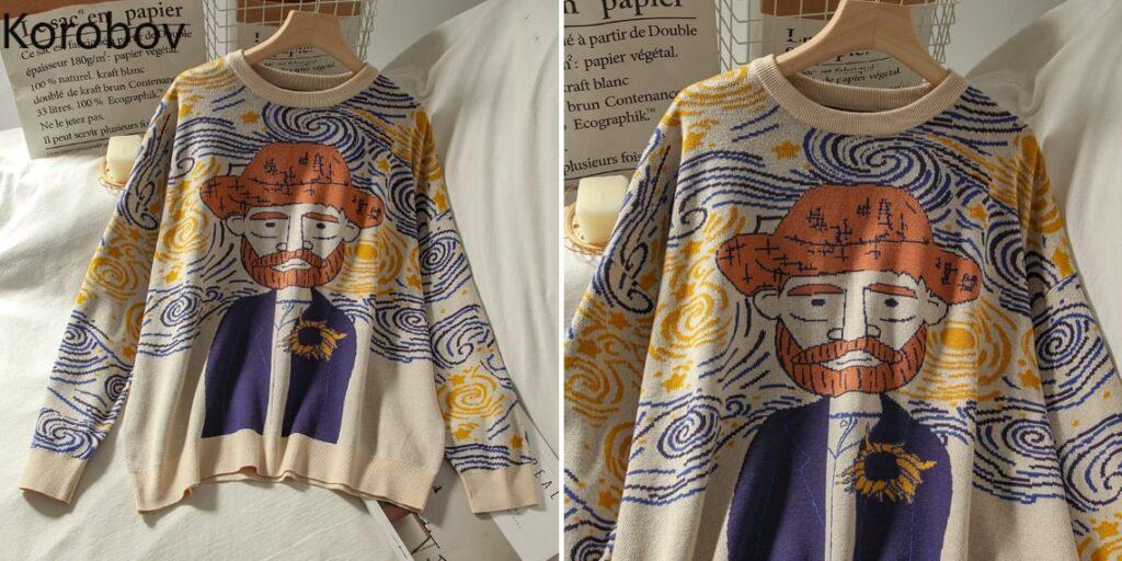Женский свитер Ван Гог
