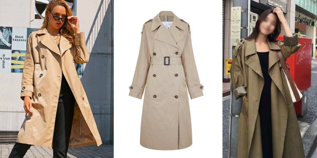Женское пальто-тренч