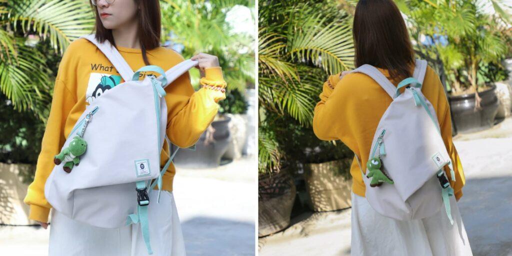 Однотонный женский рюкзак
