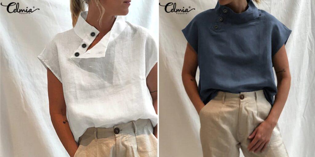 Хлопковая женская блузка