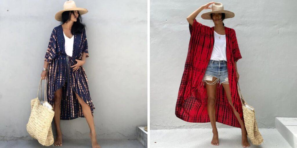 Пляжное кимоно женское