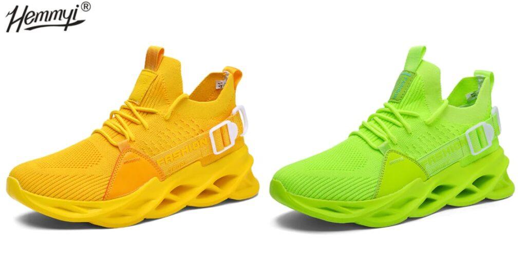 Яркие кроссовки с мягким верхом